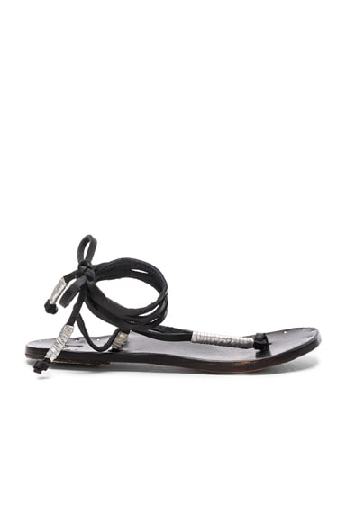 Beek The Crane Sandals in Black & Silver