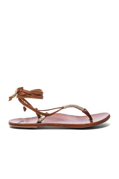 Beek The Crane Sandals in Tan & Platinum