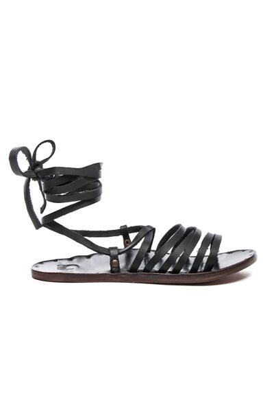 Beek Leather Heron Sandals in Black