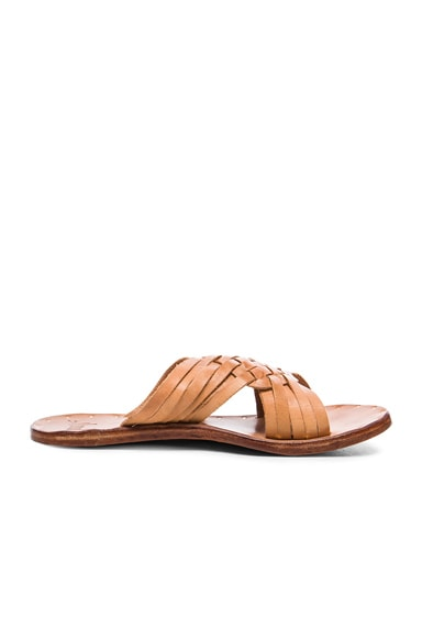 Leather Swallow Sandals