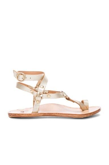 Beek Lark Sandals in Platinum & Natural