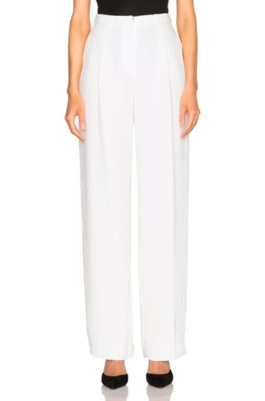 bianca spender Crepe Tuck Pants in White