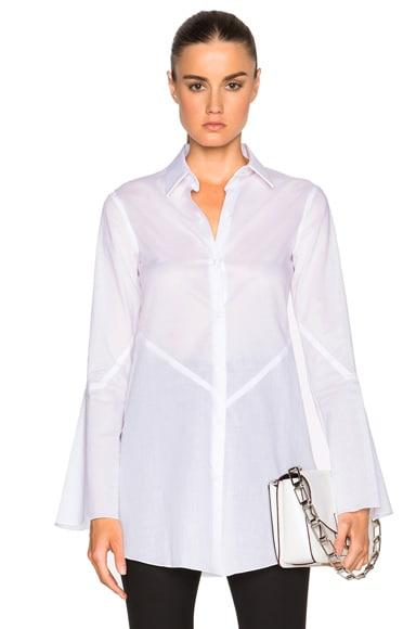 bianca spender Cotton Diamond Top in White