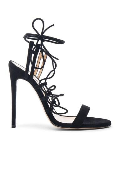 Bionda Castana Viola Suede Heels in Black