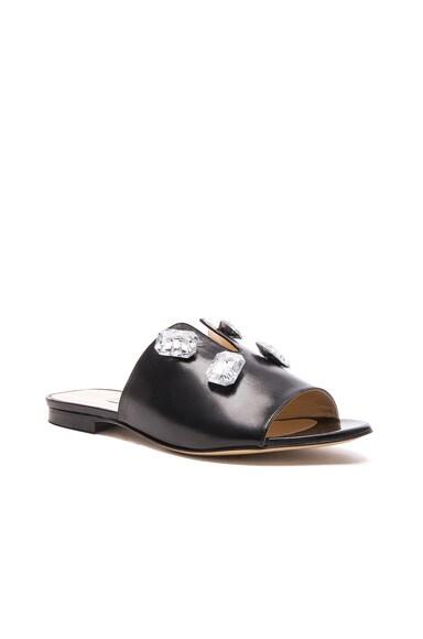 Leather Paulette Slides