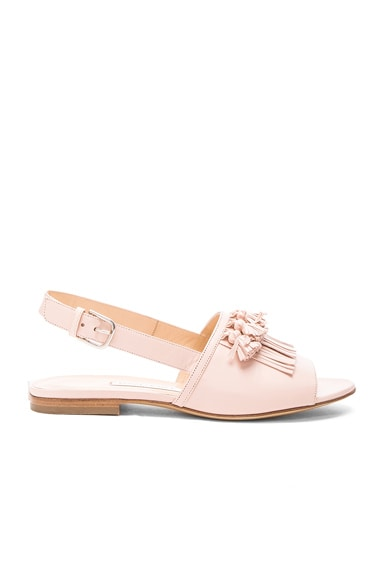 Bionda Castana Leather Aian Sandals in Blush