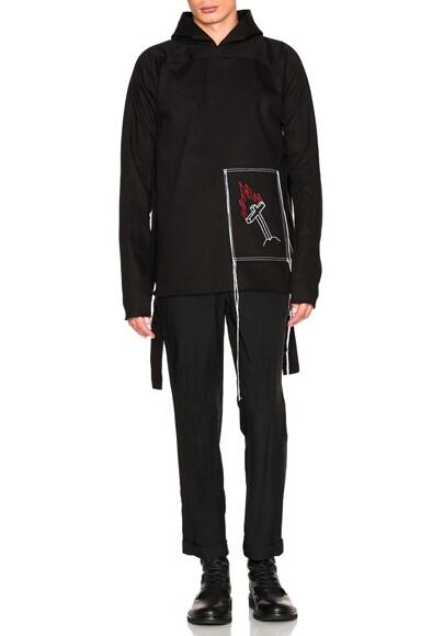 Blackfist Side Tie Hoodie in Black