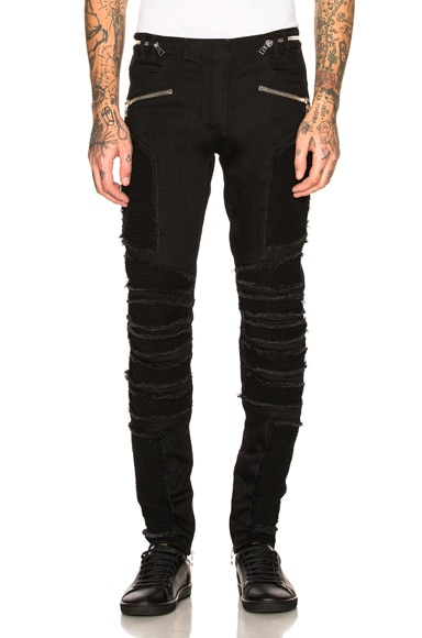 Ribbed Slim Jeans