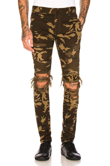 Camouflage Destroyed Jeans