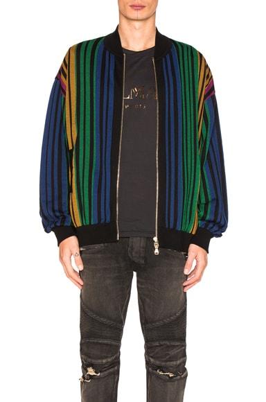 BALMAIN Striped Sweater in Multi