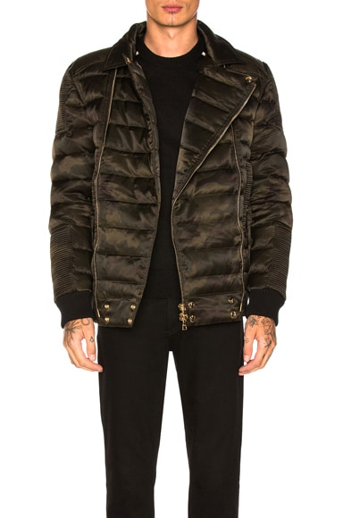 Double Zip Quilted Down Jacket