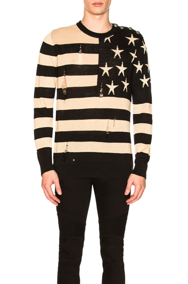 American Flag Pullover Sweater