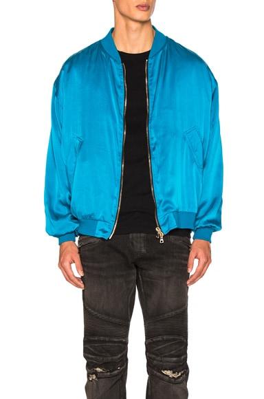 BALMAIN Bomber Jacket in Turquoise
