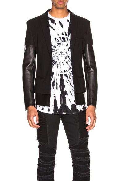 Leather Mix Jacket