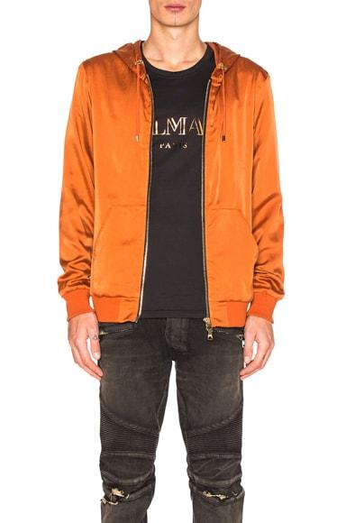 BALMAIN Bomber Jacket in Copper
