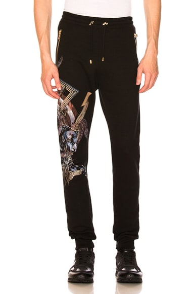 Panther Print Sweatpants