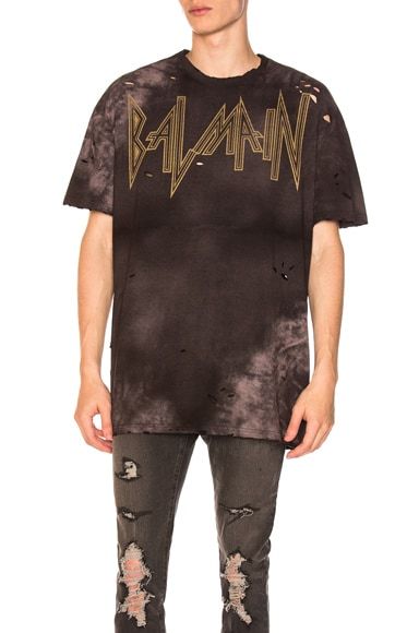 Gothic Destroyed Logo Oversized Tee