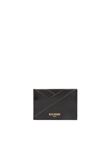 BALMAIN Leather Wallet in Black