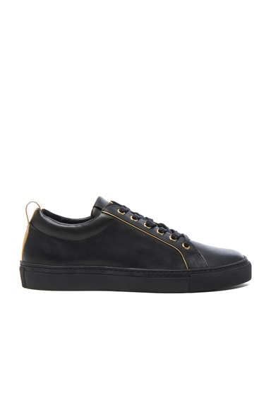 Gold Piping Leather Sneakers