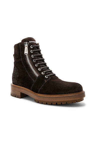 Suede Ranger Army Boots