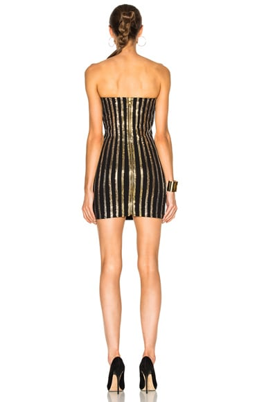 Strapless Sequin Mini Dress