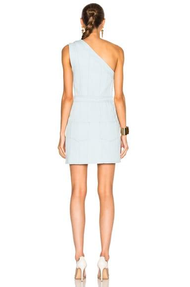 One Shoulder Denim Mini Dress