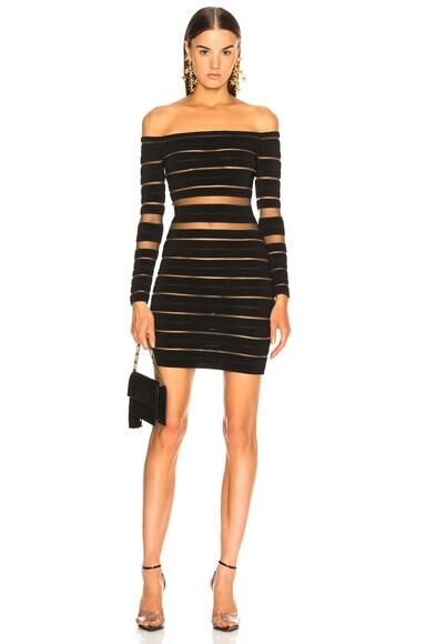 Banded Off Shoulder Mini Dress