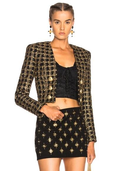 Tweed Cropped Blazer