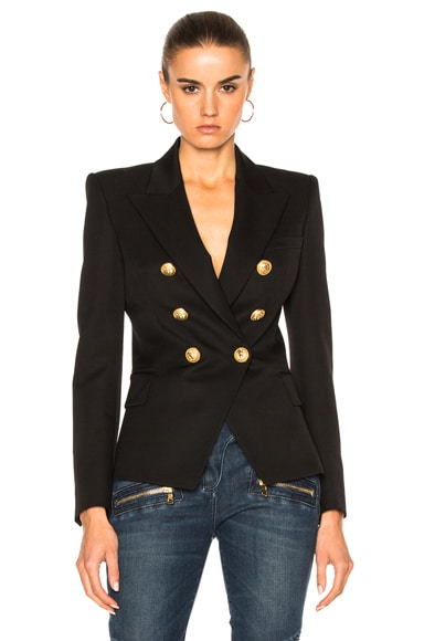 BALMAIN Double Breasted Blazer in Black