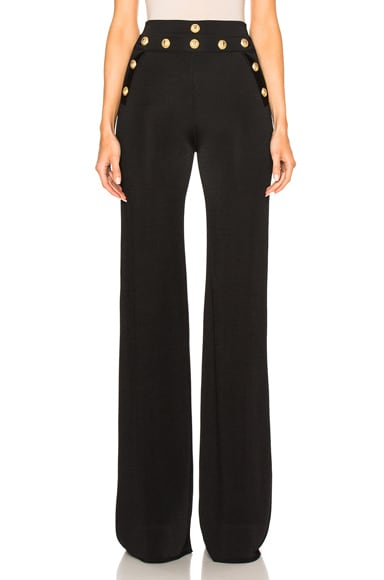 BALMAIN Wide Leg Pants in Black