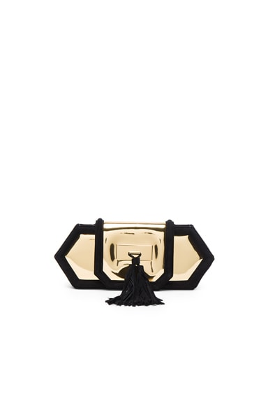 BALMAIN Killari Clutch in Black & Gold