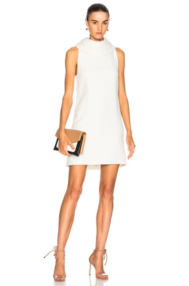 Sleeveless Dress with Layered Collar