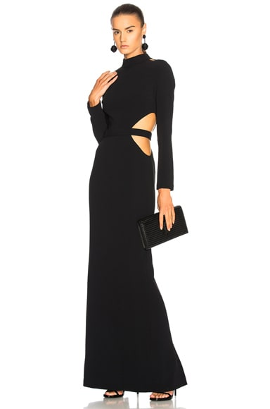 Long Sleeve Cut Out Gown