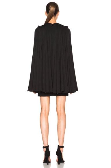 Pleat Back Mini Dress