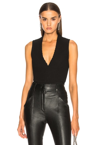 Deep V Mitered Bodysuit