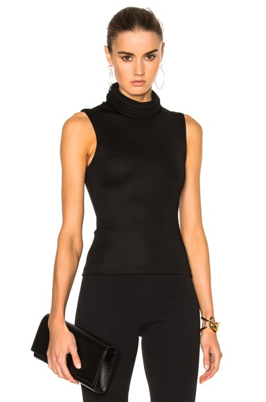 Brandon Maxwell Sleeveless Top in Black