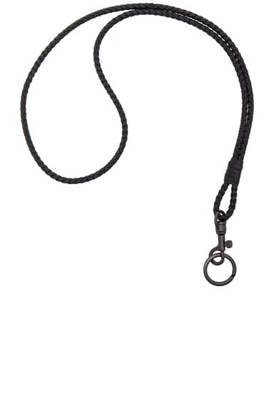 Bottega Veneta Knot Key Ring in Nero