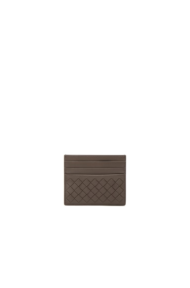 Bottega Veneta Card Case in New Steel