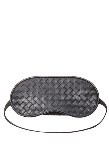 Bottega Veneta Woven Eye Mask in Nero