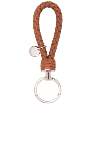 Bottega Veneta Leather Key Ring in Toscana