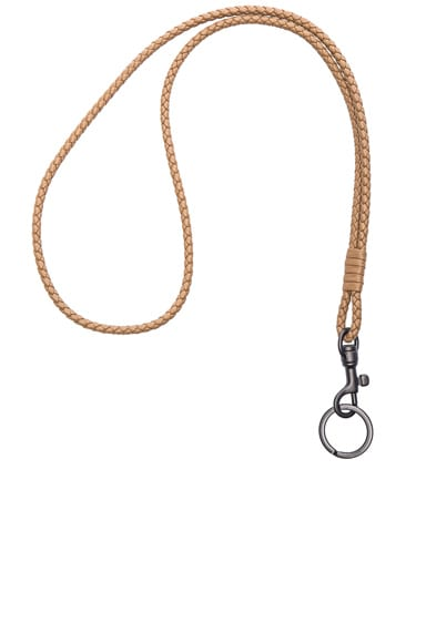 Bottega Veneta Knot Key Ring in Camel New