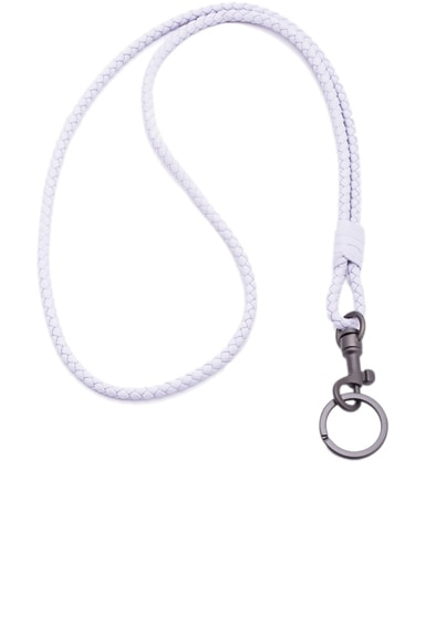 Bottega Veneta Knot Key Ring in Oyster