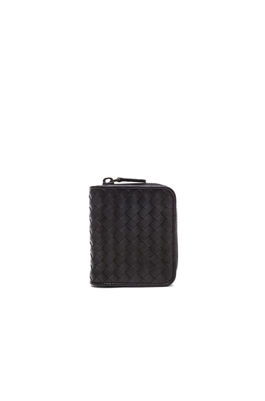 Bottega Veneta Small Woven Wallet in Black