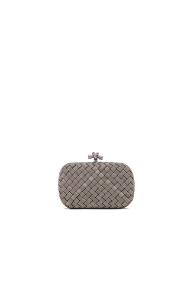 Bottega Veneta Knot Clutch in Argento