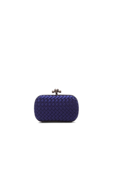 Bottega Veneta Ayers Satin Knot Clutch in Atlantic