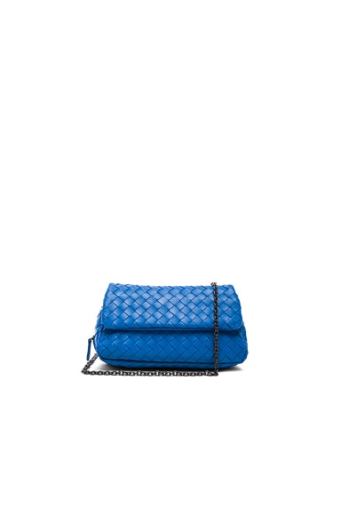 Bottega Veneta Small Foldover Crossbody in Bluette