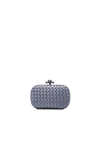 Bottega Veneta Knot Clutch in New Light Grey