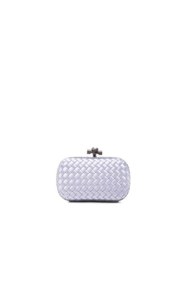 Bottega Veneta Knot Clutch in Oyster