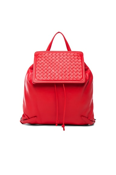 Bottega Veneta Woven Leather Backpack in Vesuvio