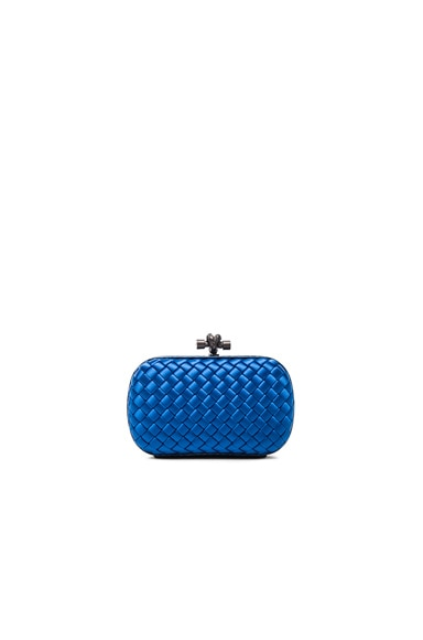 Bottega Veneta Knot Clutch in Bluette